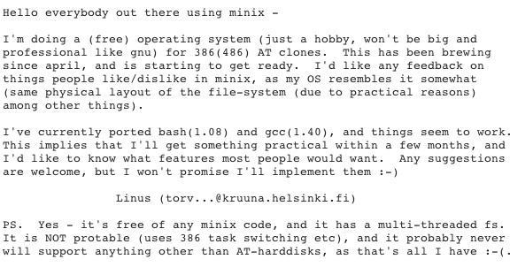 sejarah linux 1