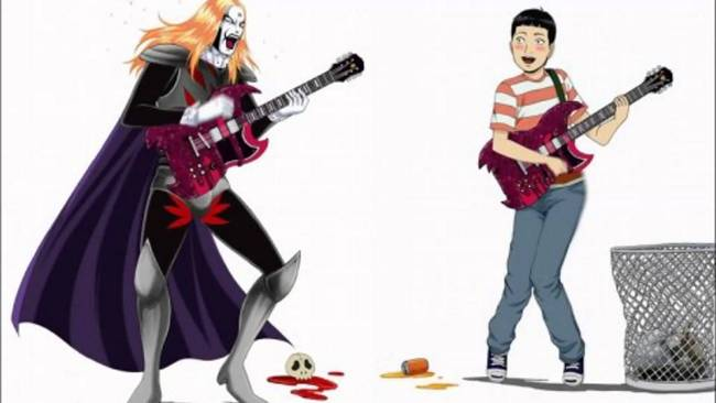 detroit metal city anime rock 2
